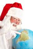 Klassiska Santa Looking på sydliga Amerika Arkivfoton