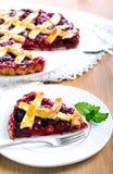 Klassiska sura Cherry Pie Fotografering för Bildbyråer