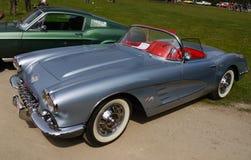 Klassiska USA-bilar, Chevrolet Corvette Fotografering för Bildbyråer