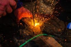 Klassiska yrkesmässiga welders royaltyfri fotografi