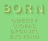 Klassiskt alfabet med modern lång skuggaeffekt Arkivbild