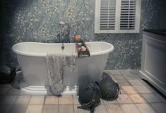 Klassiskt badrum i landsstil royaltyfri foto