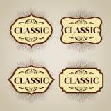 Klassiskt baner för logo eller tecken Arkivfoton