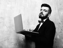 Klassiskt businessmansarbete arkivfoto