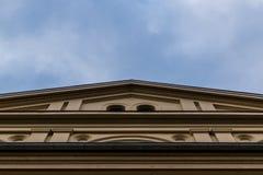 Klassiskt byggande underifrån Arkivfoton