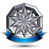 Klassiskt emblem för vektor på vit bakgrund aristokrati royaltyfri illustrationer