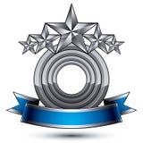 Klassiskt emblem för vektor som isoleras på vit bakgrund aristokrati royaltyfri illustrationer