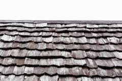 Klassiskt gammalt tr?tak f?r arkitektur royaltyfri bild