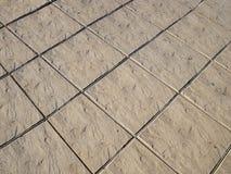Klassiskt golv för keramiska tegelplattor för designgata utomhus royaltyfri foto