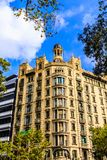 Klassiskt hotell i Barcelona royaltyfria bilder