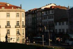 Klassiskt hus i det porto ribeira området arkivfoto