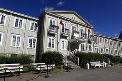 Klassiskt hus i Trondheim, Norge royaltyfri bild