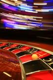 Klassiskt kasinorouletthjul med bollen arkivbilder