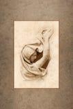 Klassiskt kvinnligt sorgdiagram Royaltyfria Foton