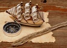 klassiskt model gammalt paper rep för fartyg Royaltyfria Foton