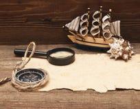 klassiskt model gammalt papper för fartyg Fotografering för Bildbyråer