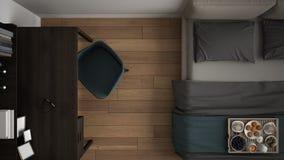 Klassiskt och elegant sovrum royaltyfri bild