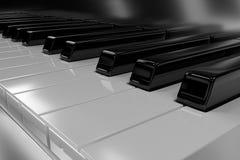 Klassiskt piano med trevliga reflexioner framförande 3d vektor illustrationer