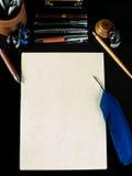 klassiskt skrivbord arkivfoto