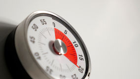 Klassiskt slut för tidmätare för tappningköknedräkning upp, 20 minuter återstå Arkivfoton