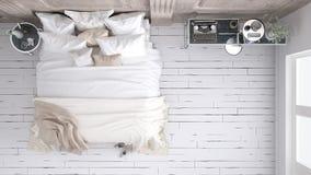Klassiskt sovrum, bästa sikt royaltyfri fotografi