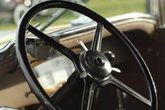 klassiskt styrningshjul Royaltyfri Fotografi