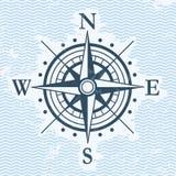 Klassiskt symbol för vektor för vindroslägenhet Arkivbilder