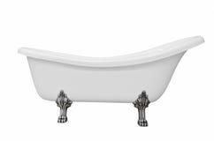 Klassiskt vitt badkar med ben royaltyfri bild