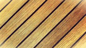 Klassiskt wood teakträdäck Arkivbilder