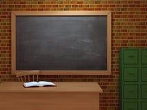klassrum 3d Arkivbild