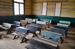 Klassrum för gammal stil som bryter staden, Chile Arkivbild