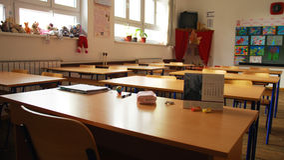 Klassrum i skolan Arkivfoton