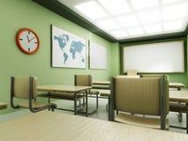 Klassrum med tomma platser Arkivfoton
