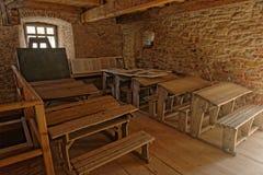 Klassrum Mosna, Rumänien Fotografering för Bildbyråer