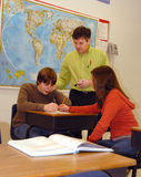 klassrumdeltagarelärare Arkivfoton