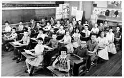 Klassrumfoto från 1959 Fotografering för Bildbyråer