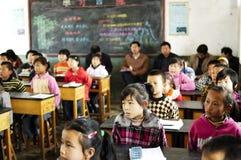 klassrumgrundskola för barn mellan 5 och 11 år Royaltyfri Fotografi