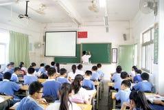 klassrummålningsteaching Arkivbilder
