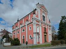 Klasterec nad Ohri, Tjeckien royaltyfria foton