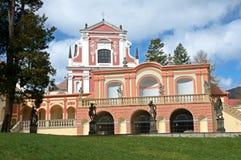 Klasterec nad Ohri, Tjeckien royaltyfri bild