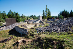 Klastorisko monastery ruins Stock Photos