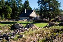 Klastorisko monastery ruins Royalty Free Stock Image