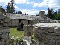 Klastorisko, paradiso slovacco - rovina del monastero Fotografia Stock