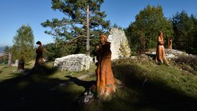 Klastorisko, raj de Slovensky, Eslováquia imagem de stock