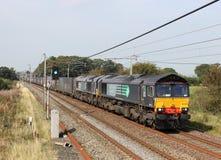 Klasy 66 dieslowscy locos z zbiornikiem trenują Zdjęcia Stock