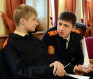 Klasy przy kadetów korpusami policja Fotografia Royalty Free