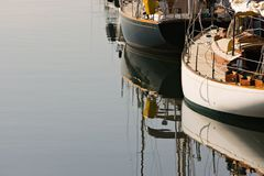 klasyczna żagiel łódź Obraz Royalty Free