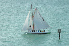Klasyczna żeglowanie łódź Bodensee Zdjęcia Stock
