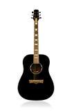 Klasyczna akustyczna czarna gitara Zdjęcia Stock