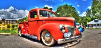 Klasyczna Amerykańska 1950s Ford furgonetka Fotografia Stock